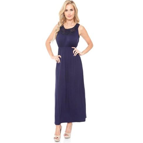Women's Lace Neckline Katherine Maxi Dress - White Mark - image 1 of 3