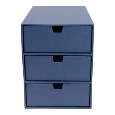 Ingrid 3-Drawer Supply Chest Navy - Bigso Box of Sweden