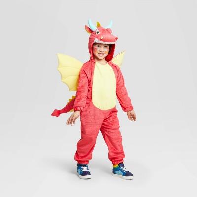 Toddler Plush Dragon Halloween Costume Jumpsuit - Hyde & EEK! Boutique™