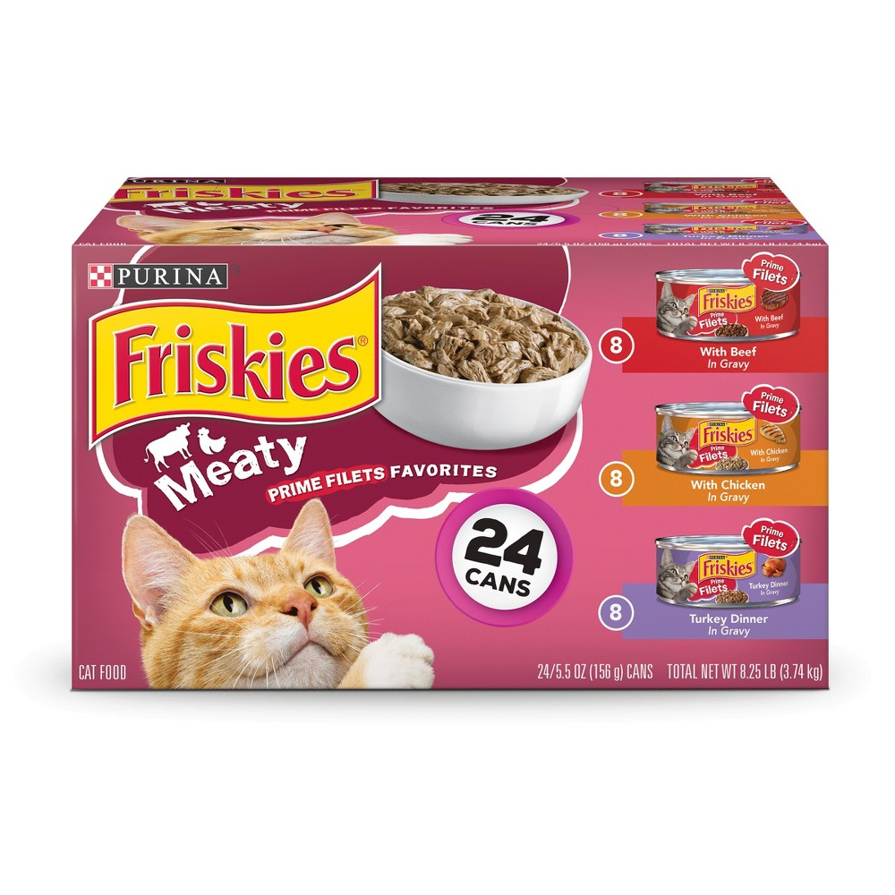 Friskies Prime Filets Meaty Favorites Variety Pack Wet Cat Food - 24ct
