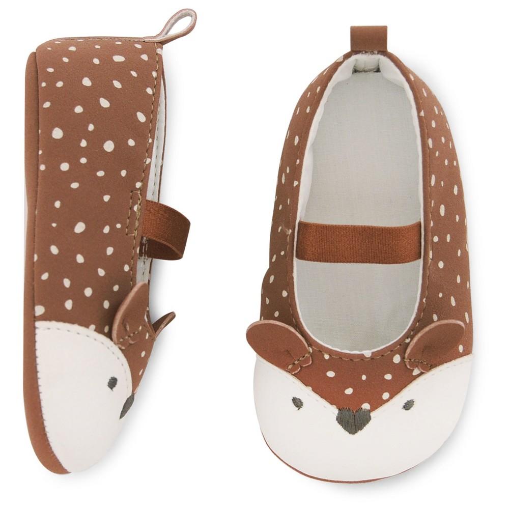 Baby Girls' Deer Mary Jane Shoe - Cat & Jack Brown 0-3M