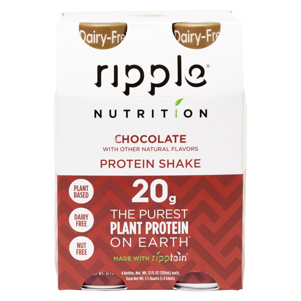 Ripple Vegan Protein Shakes Chocolate 4pk