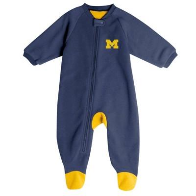 NCAA Michigan Wolverines Baby Boys' Blanket Sleeper - 6-9M
