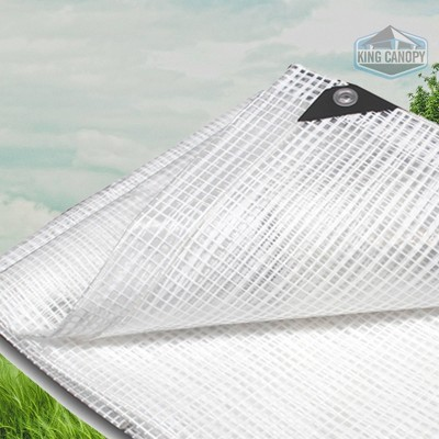 King Canopy 20'x20' Clear Poly Tarp