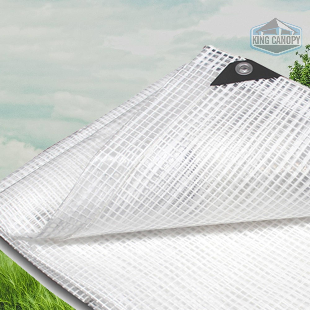 King Canopy 20 39 X20 39 Clear Poly Tarp