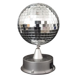 Halloween Mirror Ball With Led Base