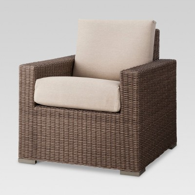 Strange Heatherstone Wicker Patio Club Chair Seafoam Threshold Gmtry Best Dining Table And Chair Ideas Images Gmtryco