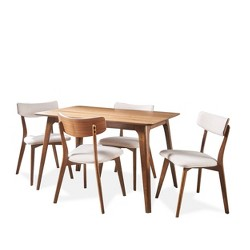 5pc Megann Mid Century Wood Dining Set - Christopher Knight Home