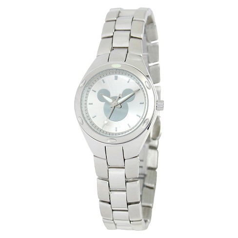 Women's Disney® Mickey Mouse Fortaleza Stainless Steel Watch - Silver - image 1 of 2