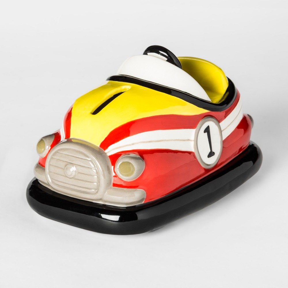 Bumper Car Coin Bank Yellow/Red - Pillowfort, Multi-Colored