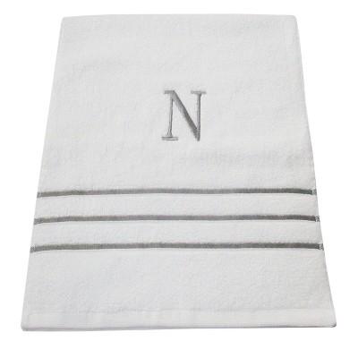 Monogram Hand Towel N - White/Skyline Gray - Fieldcrest®