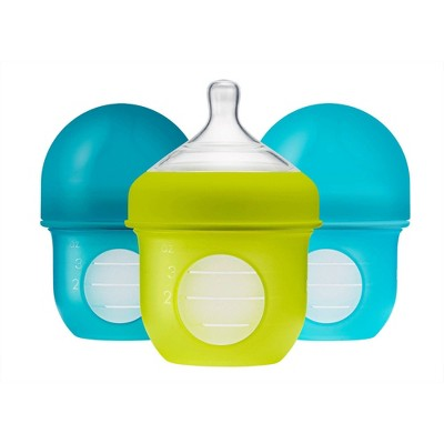 Boon NURSH 4oz 3pk Silicone Bottle - Blue