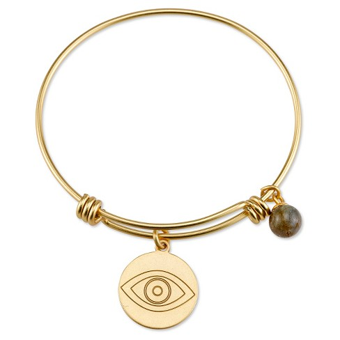 """Women's stainless steel May all your wishes expandable bracelet - gold (8"""") - image 1 of 2"""