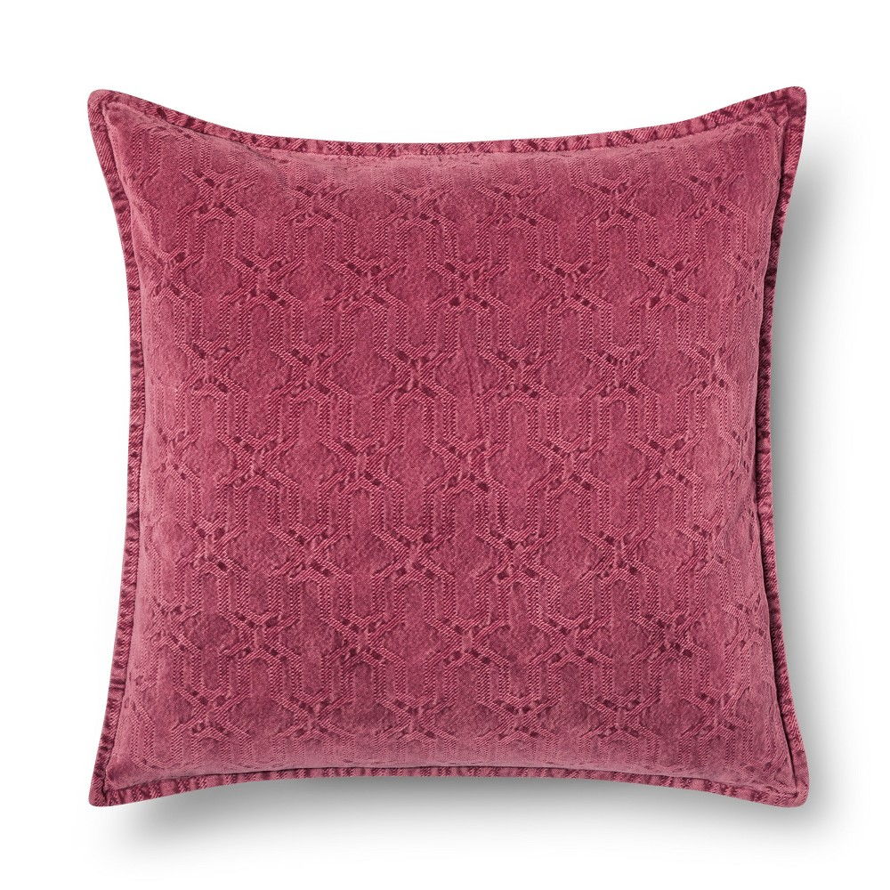Throw Pillow Stonewashed Chenille Maroon Oversized Red - (24x24) - Threshold