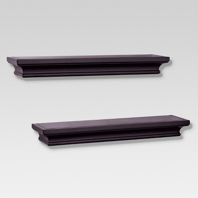 Set of 2 Traditional Shelves - Brown (15.75 )- Threshold™