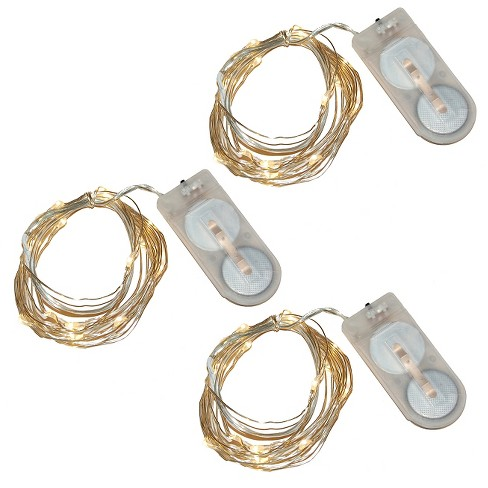 4.3' 3ct Lumabase Warm White LED Submersible Mini String Lights - image 1 of 4