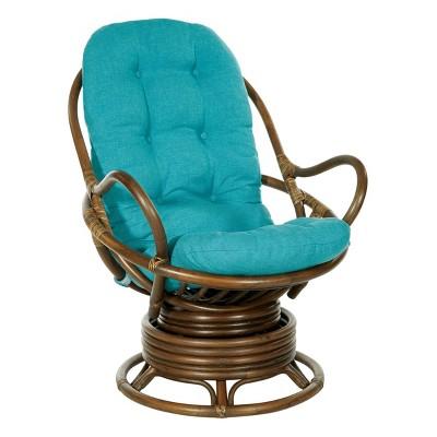 Kauai Rattan Swivel Rocker Chair - OSP Home Furnishings