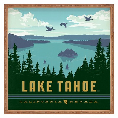 Anderson Design Group Lake Tahoe Square Tray - Green - Deny Designs