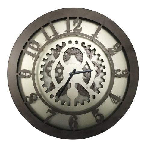 Classic Gears Wall Clock Dark Bronze - A&B Home - image 1 of 1