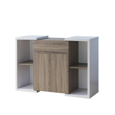 Chester Contemporary Buffet Table Light Oak Homes Inside Out