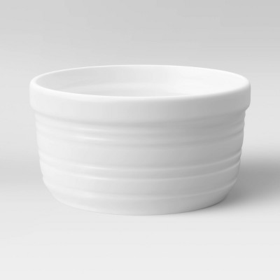 14oz Porcelain Horizontal Stripe Ramekin White - Threshold™