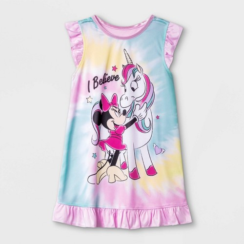 Toddler Girls Minnie Mouse Nightgown Pink 3T