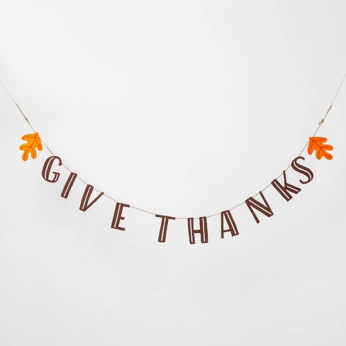 Give Thanks Garland Banner - Spritz™ - image 1 of 1