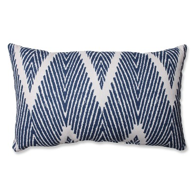 Navy Bali Lumbar Throw Pillow 11.5 x18.5  - Pillow Perfect