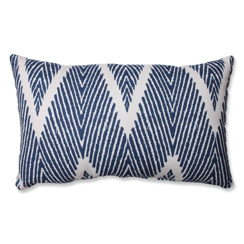 """Navy Bali Lumbar Throw Pillow 11.5""""x18.5"""" - Pillow Perfect - image 1 of 2"""