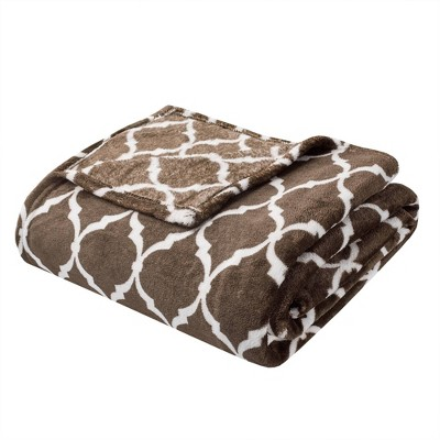 """60""""x70"""" Ogee Oversized Throw Brown"""