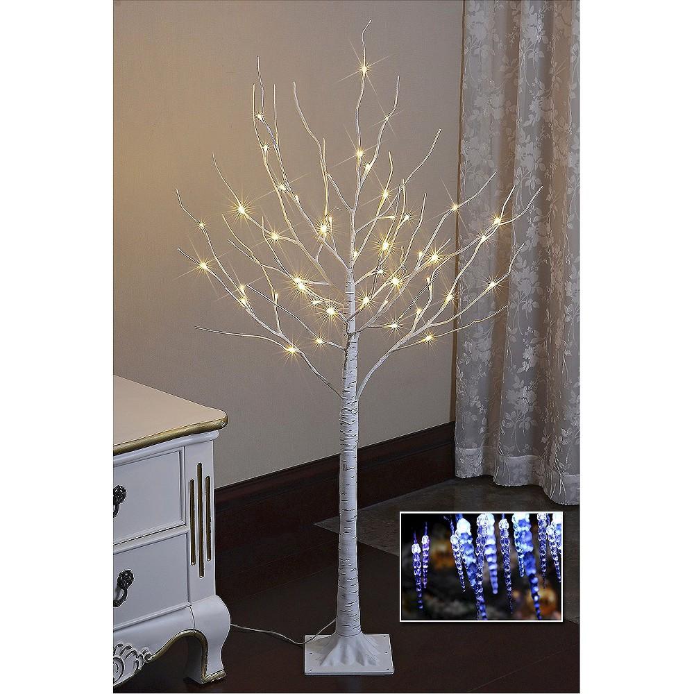 Image of Lightshare 4' LED Birch Tree Decoration Light - Warm White Lights