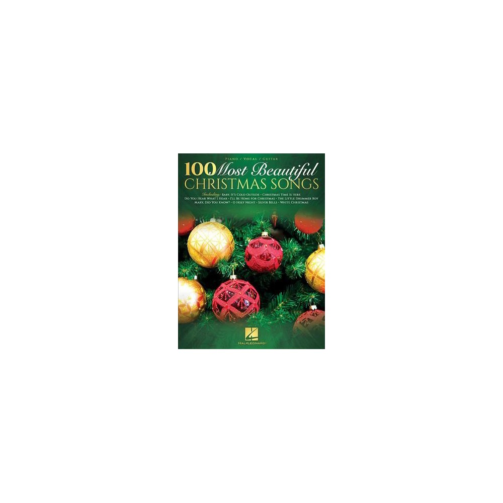 100 Most Beautiful Christmas Songs : Piano / Vocal / Guitar - (Paperback)