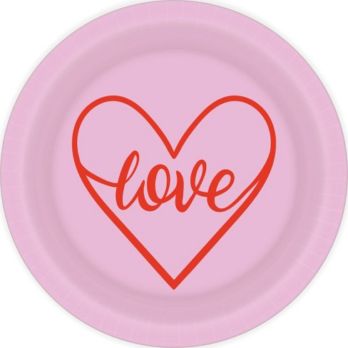 """Love"" Disposable Plates - Spritz™ - image 1 of 1"