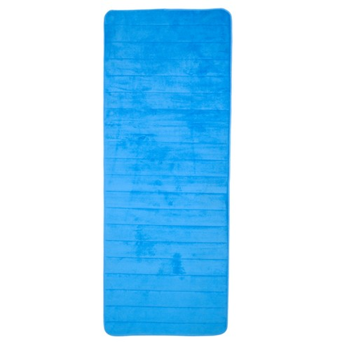 Extra Long Memory Foam Striped Bath Mat - Yorkshire Home - image 1 of 4