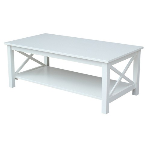 Hampton Coffee Table - White - International Concepts - image 1 of 7
