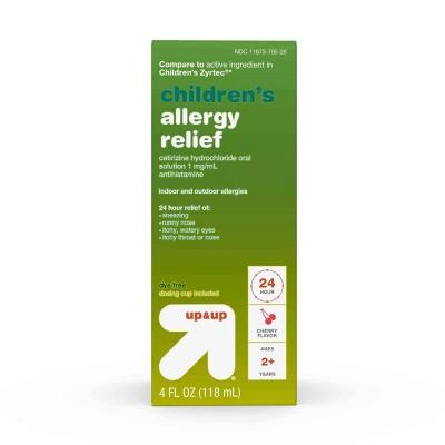 Children's Cetirizine Hydrochloride Allergy Relief Liquid - Cherry - 4oz - up & up™