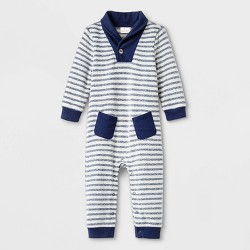 Baby Boys' Stripe Shawl Romper - Cat & Jack™ Blue