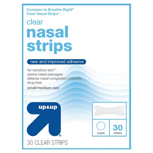Nasal Strips Clear Small/Medium - 30ct - Up&Up™ (Compare to Breathe Right Clear Nasal Strips) - image 1 of 1