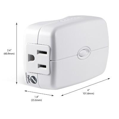 GE ZigBee Plug-In Smart Switch with Energy Monitoring - White (45853GE)