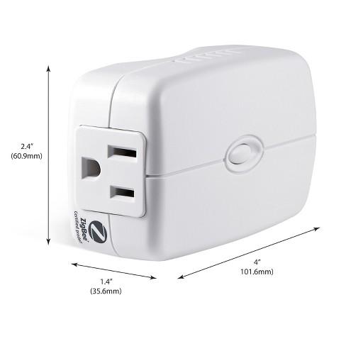 GE ZigBee Plug-In Smart Switch with Energy Monitoring - White (45853GE) - image 1 of 4