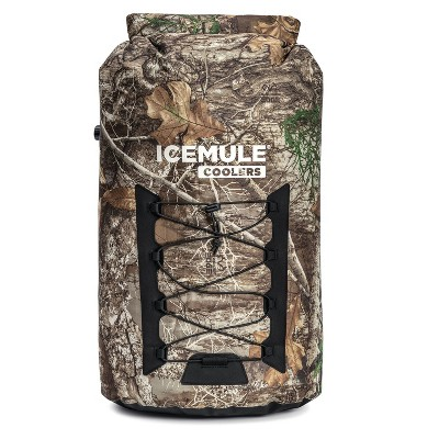 IceMule 1015-RE Pro XLarge Collapsible Portable Soft Sided Roll Top 33 Liter 24 Can Lightweight Insulated Waterproof Cooler Bag