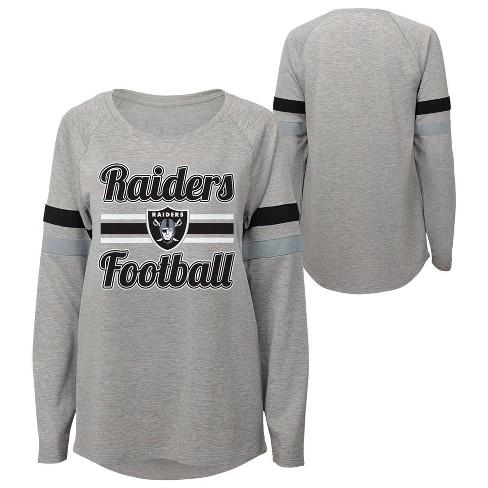 NFL Oakland Raiders Juniors' Gray Crewneck Fleece Sweatshirt - image 1 of 3