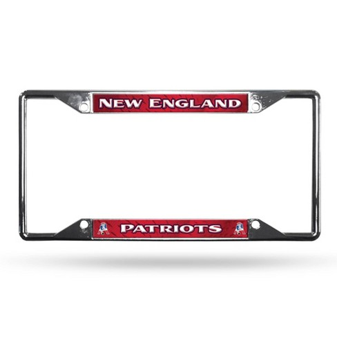 NFL New England Patriots View Chrome License Plate Frame Cover - image 1 of 2