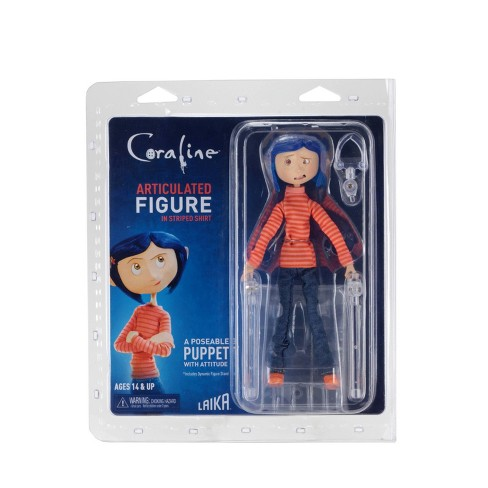 Coraline Articulated Figure Plastic Armature Coraline In Striped Shirt And Jeans Target