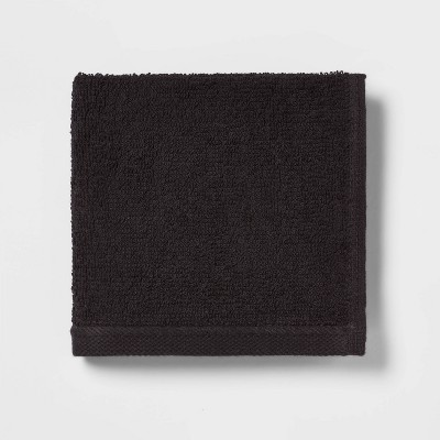 Everyday Solid Washcloth Black - Room Essentials™