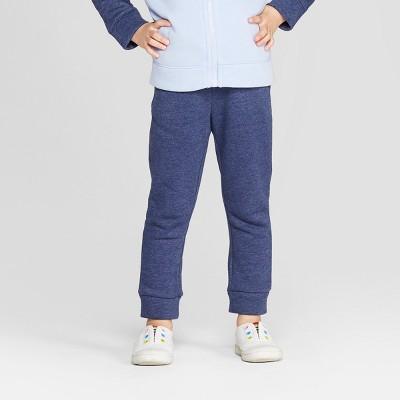 Toddler Girls' Fleece Jogger Pants - Cat & Jack™ Navy 12M