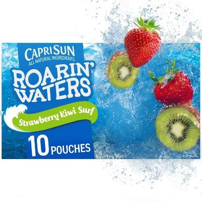Capri Sun Roarin' Waters Strawberry Kiwi Juice Drinks - 10pk/6 fl oz Pouches