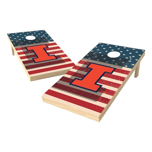 NCAA 2x4 Authentic Cornhole College Illinois Fighting Illini SAS Worn Shadow Design - image 1 of 1