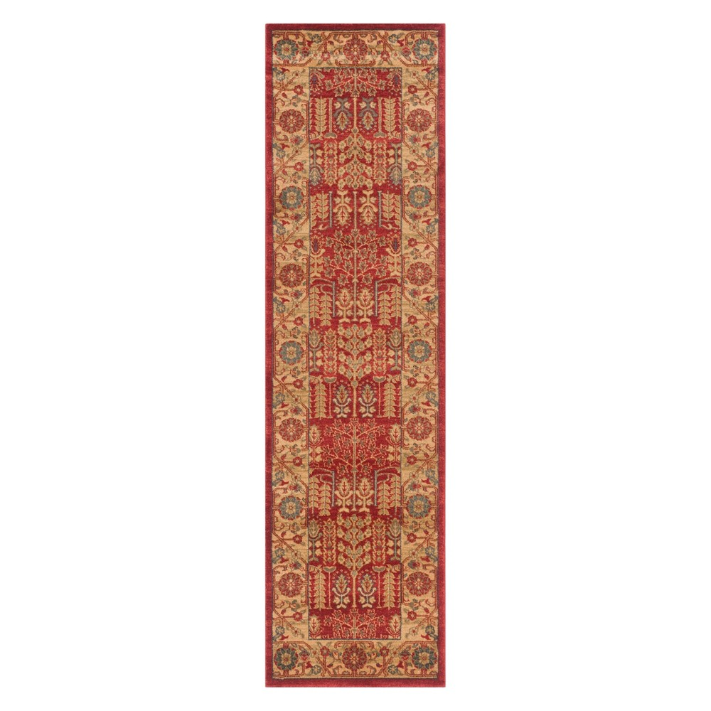 Floral Runner Red/Natural
