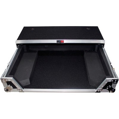 ProX XS-DJ808WLT Flight Case for Roland DJ-808 or Denon MC7000 Digital Controller W-Wheels and Sliding Laptop Shelf